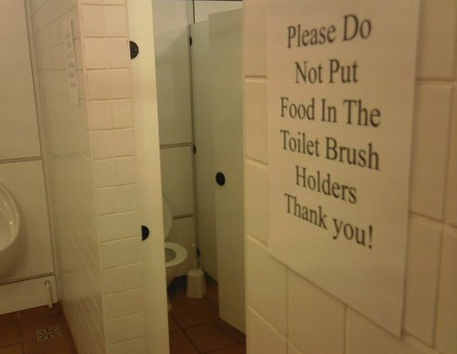 Please Do Not Put Food in the Toilet Brush Holders. Thank you!