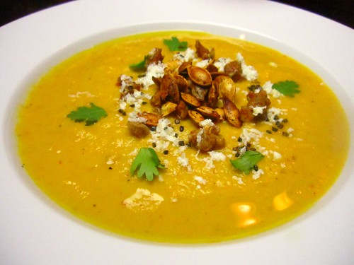 Pumpkin soup with chipotle and pimenton