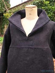 veste vareuse femme détail