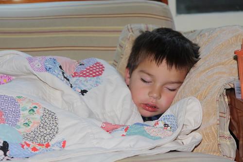 Feverish Finn slept through dinner