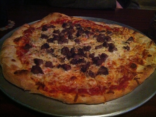 Sausage pizza from Juicy Jim's