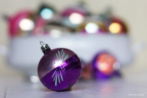 happy purple tuesday ~ the vintage ornament edition
