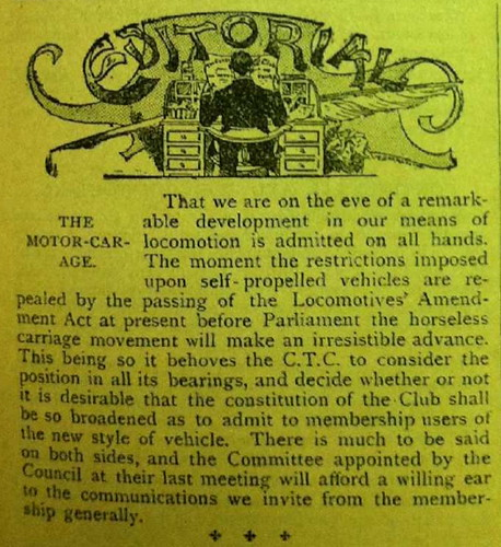 Motor Car Age CTC Gazette July 1896