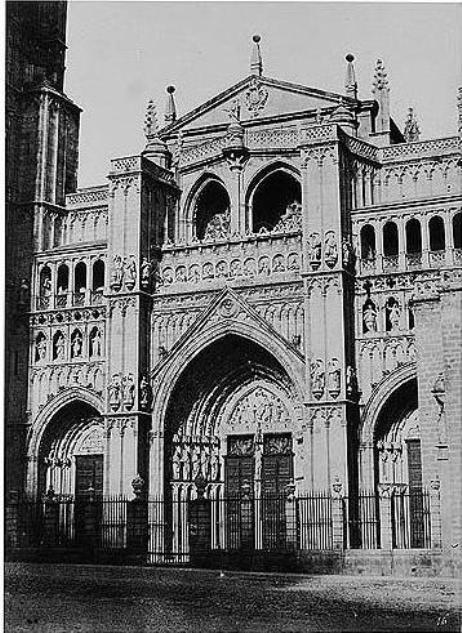 Catedral de Toledo en 1858. Fotografía de Gustave de Beaucorps