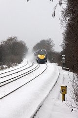 Javelin Approaching (VR Traction) Tags: snow train kent crossing teynham southeastern sittingbourne javelin farmcrossing southeasternhighspeed baxfarmcrossing