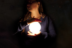 Day 200 (Michelle Elaine.) Tags: lighting light portrait sky selfportrait lamp girl face oneaday bulb dreadlocks night photoshop self canon dark stars one star stand lowlight whimsy alone glow moody shadows shine autoportrait empty dream orb sparkle flame reflect sp nebula 200 imagination galaxies 365 fascination lowkey timer emptiness hold whimsical watermark day200 selfie reflectedlight deadspace lowkeylighting project365 365days canonef1740mmf4usm canon40d