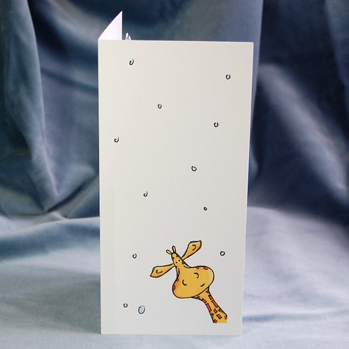 cosy giraffe - pop up card front