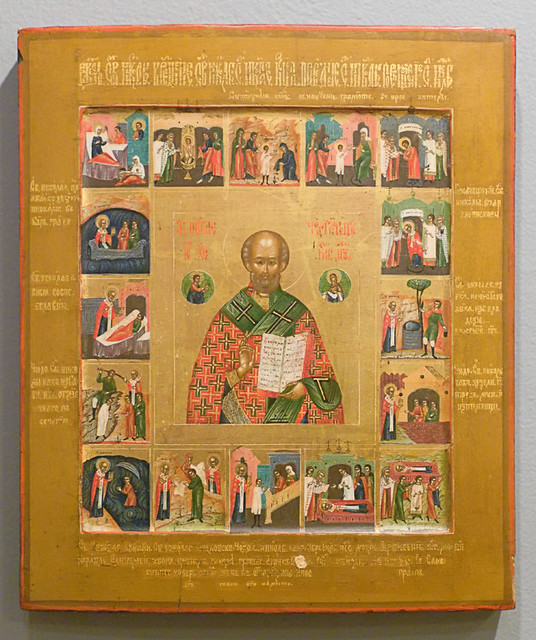 Russian Icon, at the Saint Louis University Museum of Art, in Saint Louis, Missouri, USA - Saint Nicholas 2a