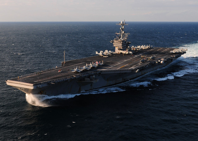 USS George Washington (CVN 76) transits the East China Sea