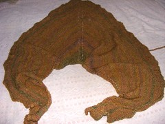 Copper shawl pre-blocking