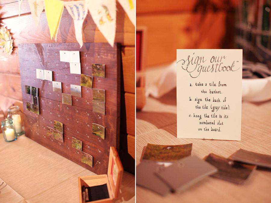 Detail To Love: Unique Guestbook Option  Tile Artwork! via TheELD.com