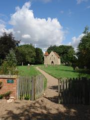 Path to the Church (tjsphotobrigg) Tags: uk trees england building tower church sunshine stone gate village path historic lincolnshire churchyard gravestones aubourn