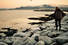 freezing (júlía ∆) Tags: film sunrise pentax stones freezing esja mx fjara grandi 10am valavala