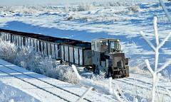 Choo-Choo (Maiseydote's) Tags: blue ireland sun snow train power warmth sparkle freeze heat midlands offaly winter2010 edenderrypowerstation