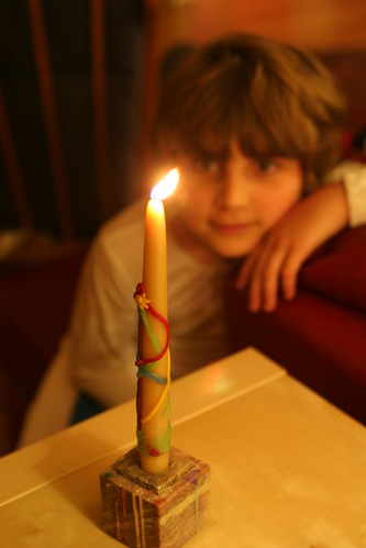 May Pole Birthday Candle in December
