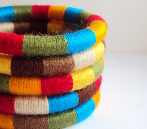 yarn wrapped bangles