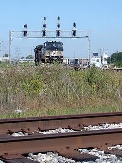 Eastbound Norfolk Southern transfer train approaching Hayford Junction. Chicago Illinois. July 2007. by Eddie from Chicago