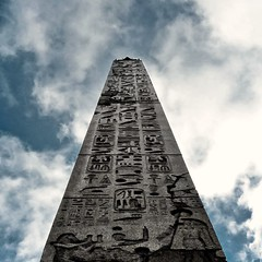 Obelisk (paulgalbraith) Tags: monument carved ancient egyptian obelisk hieroglyphs piazzadelpopolo monolithic heliopolis ramessesii obeliscoflaminio setyi popoloobelisk