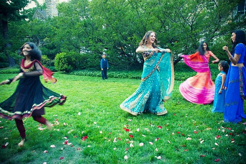 Twirling with the cousins (pre-Jai Ho dance)