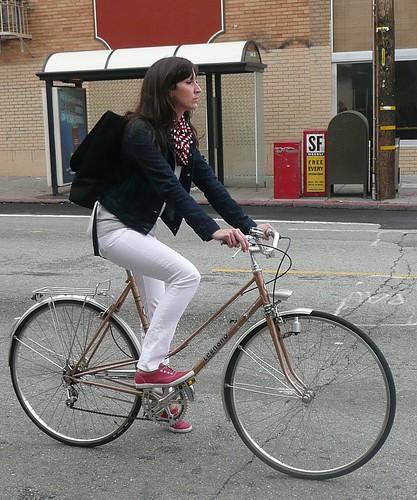 nice bike, lady