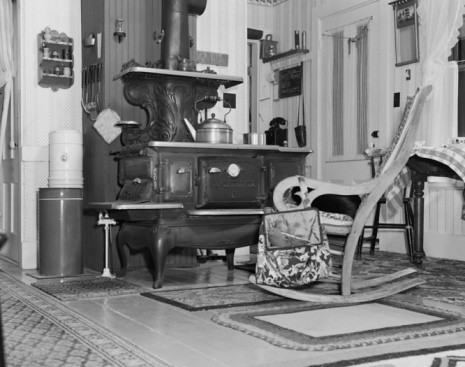 rocking chair in kitchen
