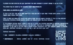 WikiLeaks ☛ »The Blue Screen Of Death« (for widescreen displays) (arnoKath) Tags: blue wallpaper color colour art illustration dark poster logo grid typography graffiti design graphicdesign artwork colorful experimental graphic widescreen space grunge political letters bluescreenofdeath screen futurism font letter lettering bluescreen striking typo groovy distressed sturdy futuristic initial oneletter specimen infographic wiki tipografia glyph chunky typeface grungy sans leaks logotype cartoony eroded typographie sansserif typedesign letterforms typografie extravagant typedesigner plakativ typespecimen andinistas wikileaks typographicgrid codiga carlosfabiáncamargoguerrero type:typeface=codiga fontsinusecodiga