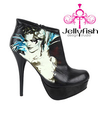 HOLIDAYS are almost here! $99 Studio Jellyfish high heels just in time for Christmas! Free Shipping! http://tinyurl.com/29ldu6a (Studiojellyfish) Tags: life party woman white black sexy love nature girl beautiful make illustration turn book design high perfect shoes jellyfish comic hand painted platform inspired style super kind created just attitude purse heads heels heel features debbie sure samantha feature arent