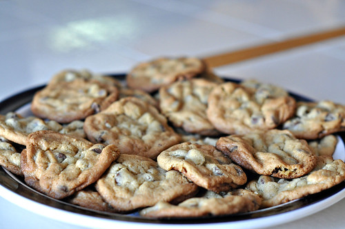 Platter of Chocolate Chip Cookies