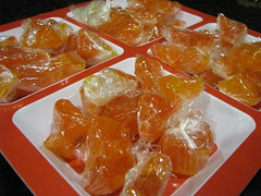 Orange ribbon candy