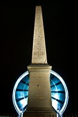 Place de la Concorde 01 (Saad Z) Tags: voyage trip travel light paris france monument wheel les night de french la grande photo nice nikon frankreich europe place egypt picture ferris des un trail le egyptian concorde obelisk nikkor francia nuit 2010 roue oblisque gypte 2011 d90 gyptien
