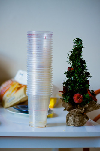 xmas tree and sangria cups