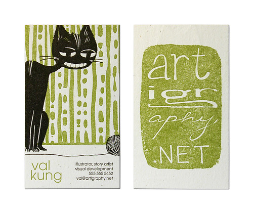 Val Kung Business Card / Cranky Pressman