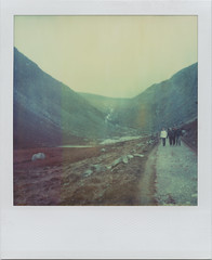 I would bring you Ireland, 1 (Rhiannon Adam) Tags: ireland winter mist mountains landscape polaroid sx70 glacialvalley gleanndloch integralfilm