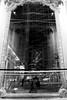 (...storrao...) Tags: blackandwhite bw reflection berlin me germany myself deutschland nikon fireplace pb sonycenter pretoebranco postdamerplatz d90 storrao sofiatorrão nikond90bw