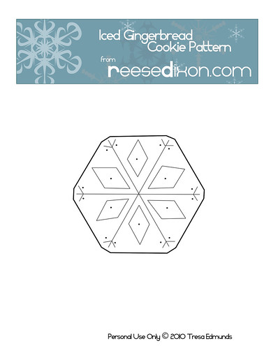 Iced Gingerbread Cookie Pattern