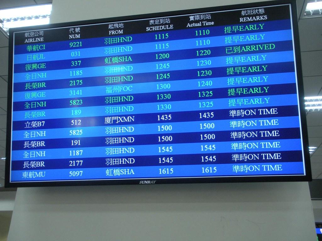 TSA FIDS, international arrivals