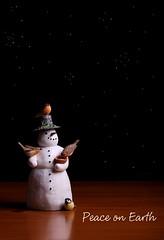 Peace on Earth (Karen_Chappell) Tags: christmas xmas stilllife holiday black birds night stars table snowman december peace decoration noel figurine decor marjoleinbastin naturessketchbook