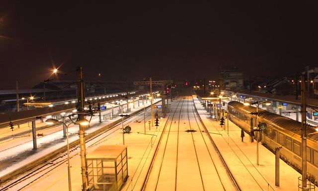 Gare d'Amiens, le 19 décembre 2010