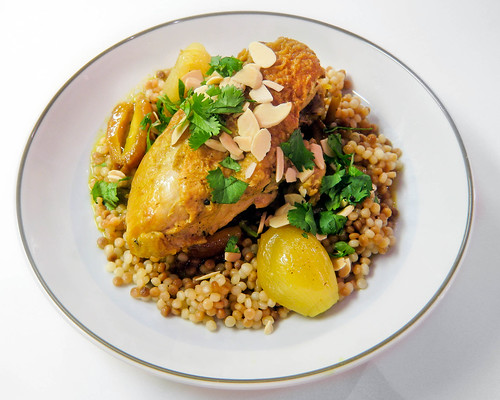 Braised Moroccan-Spiced Chicken with Dates