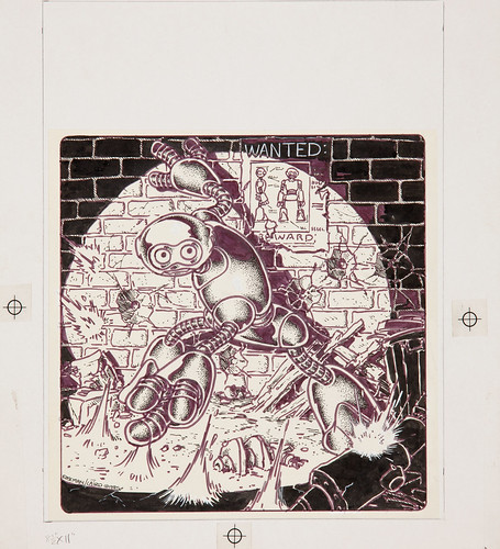 "MIRAGE STUDIOS PRESENTS ""Gobbledygook"" #1 // Cover art - ink on vellum  (( 1984 )) [[ Courtesy of Heritage Auction Galleries ]]"
