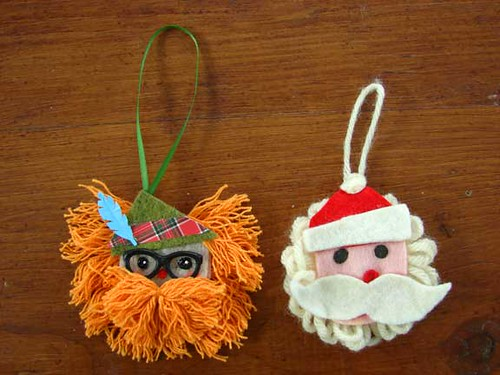 christmas tree ornaments crafts: paper and felt ideas