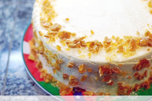 burnt almond cake