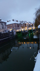Ljubljana At Night (A.Currell) Tags: pictures snow night river dark europe time photos shots snowy capital basin nighttime slovenia ljubljana after snowing laibach ljubljanica lubiana labacum
