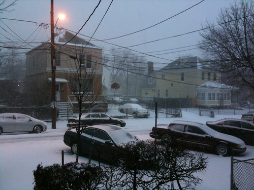 East Coast snowstorm, by day
