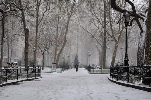Madison Square Park in Snow