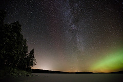 Milky Way (neatmummy) Tags: winter snow cold night finland dark frozen russia aurora talvi 31 2010 lieksa neitijrvi