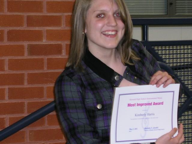 Kim's band award, spring 2010