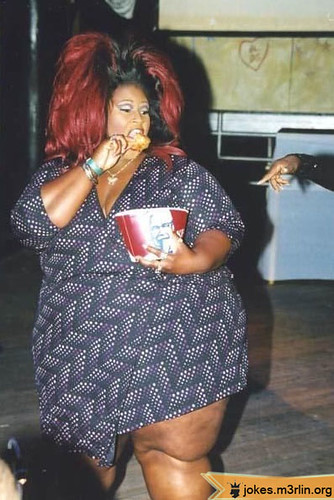 000946-fat-overweight-black-woman-with-huge-red-hair-eating-<span class=
