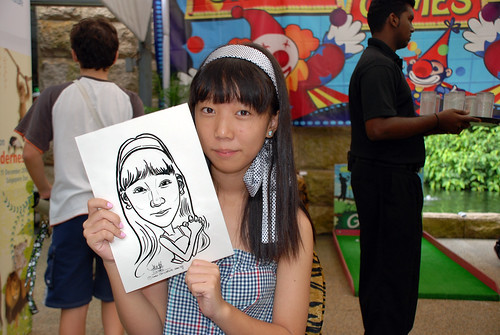 Caricature live sketching for BHP Billiton Family Day 2010- 2