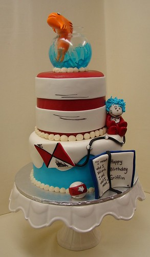 cat in hat cake. Cat and The Hat Birthday Cake